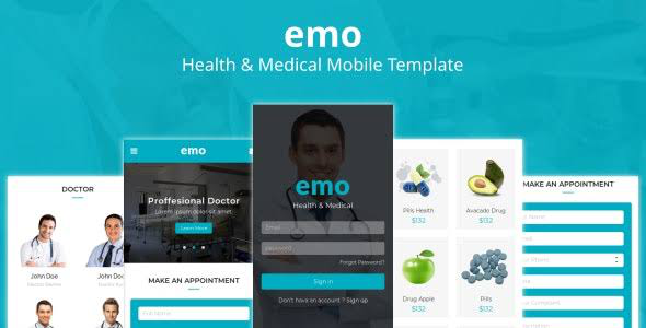 Emo Health & Medical Mobile HTML Template