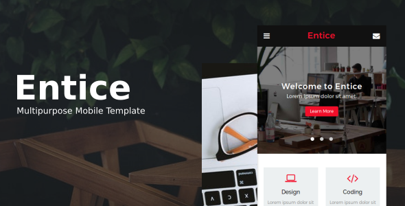 Entice Multipurpose Mobile Template