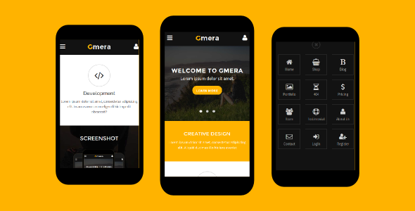 Gmera - Multipurpose Mobile Template