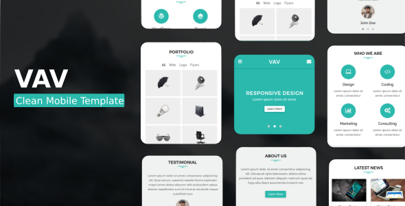 VAV - Clean Mobile Template: