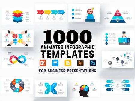 A Bundle Of 1000 Animated Infographic Templates For Business Presentations