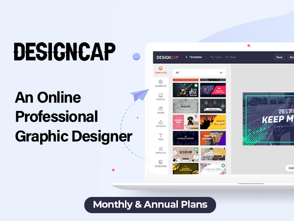 DesignCap - An Online Professional Graphic Designer | Monthly & Annual Plans