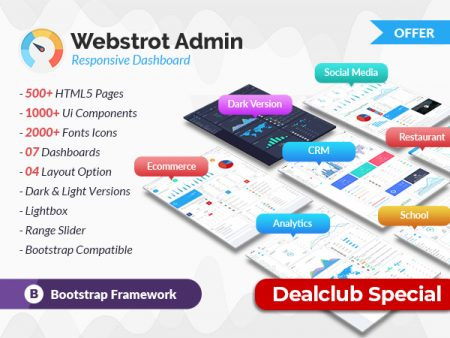 7+ Different Bootstrap Admin Templates For A Responsive Dashboard | DealClub