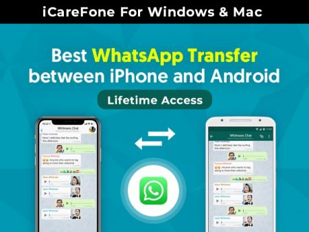 iCareFone For Easy WhatsApp Transfer Between iPhone & Android | Windows & Mac