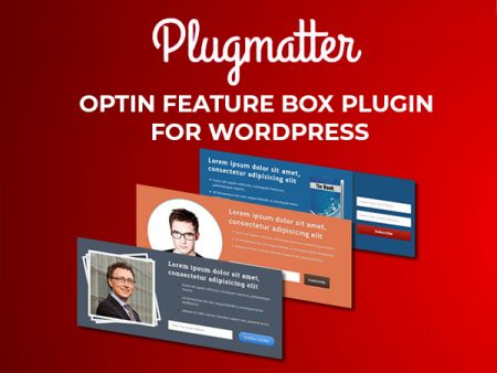 Plugmatter Optin Feature Box Plugin for WordPress Website | 1-Year Plan