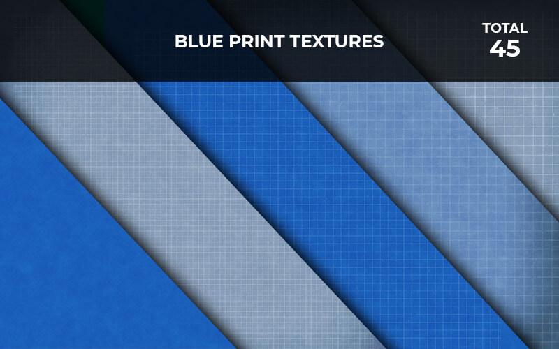 45 Blue Print Textures