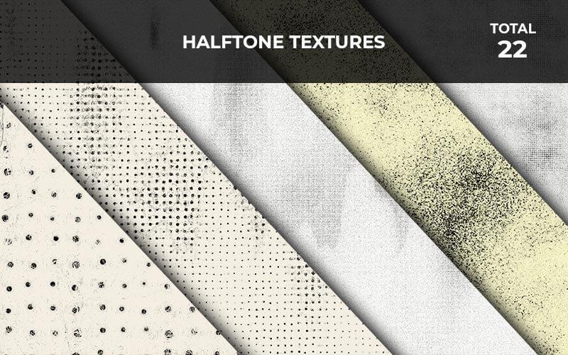 22 Halftone Textures