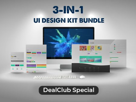 The 3 in 1 UI Design Kit Bundle With High Quality Elements | DealClub