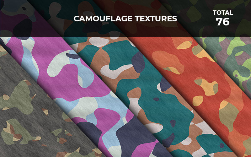 76 Camouflage Textures