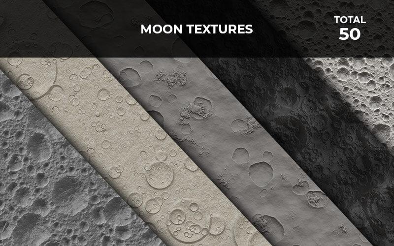 50 Moon Textures