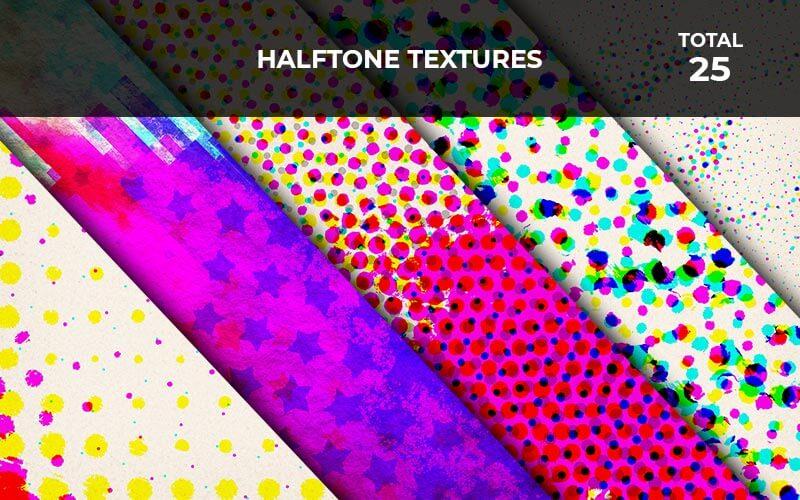 25 Halftone Textures