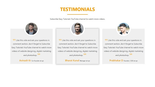 Word of Mouth Marketing using Client Testimonials