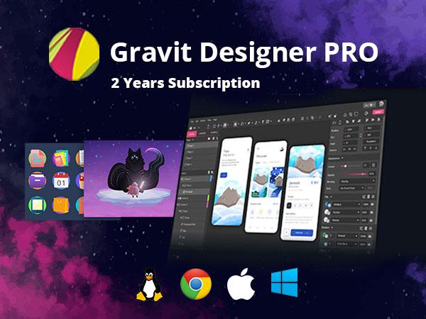 Gravit Designer - Powerful Online Vector Graphic Design App | 2 Year Subscription