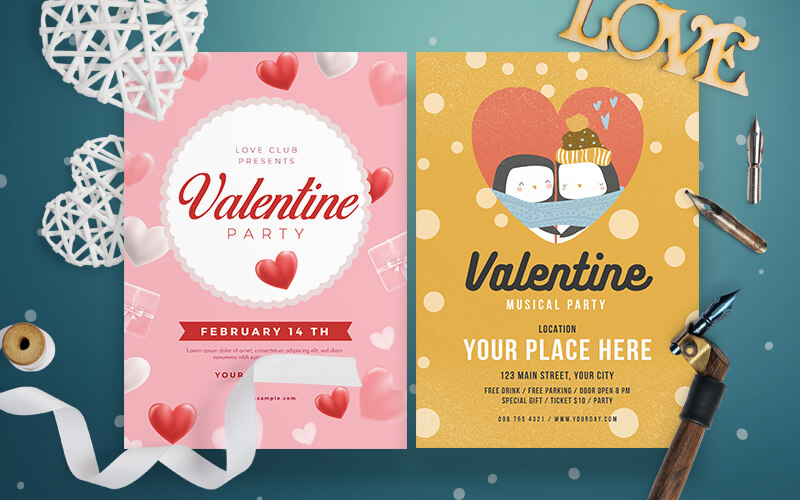 V-Day Special Business Flyer Designs Preview - 4