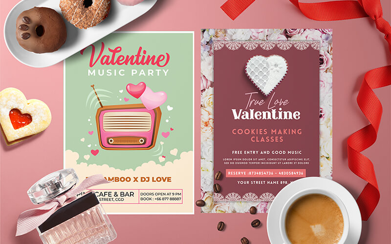 V-Day Special Business Flyer Designs Preview - 2
