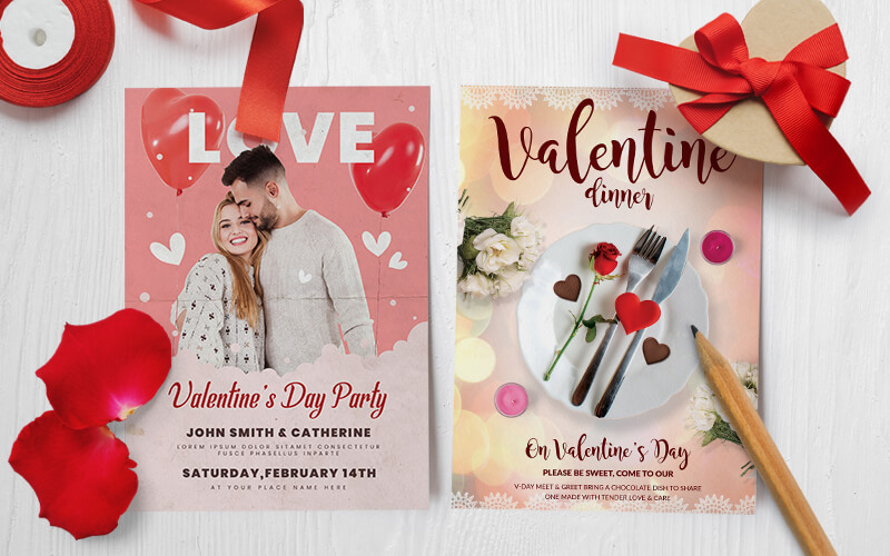 V-Day Special Business Flyer Designs Preview - 1