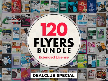 120 Creative Corporate Flyers Bundle With Extended License | DealClub Special