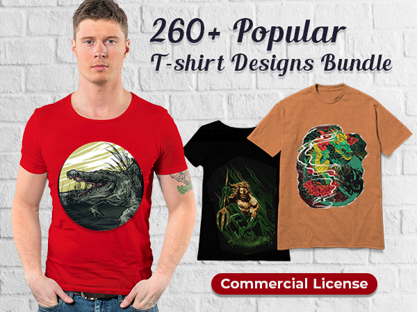 Fluffy Art Studio T-Shirt Designs Bundle