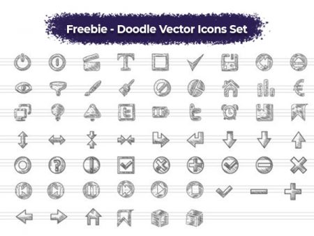 Doodle Vector Icons Set- Freebie