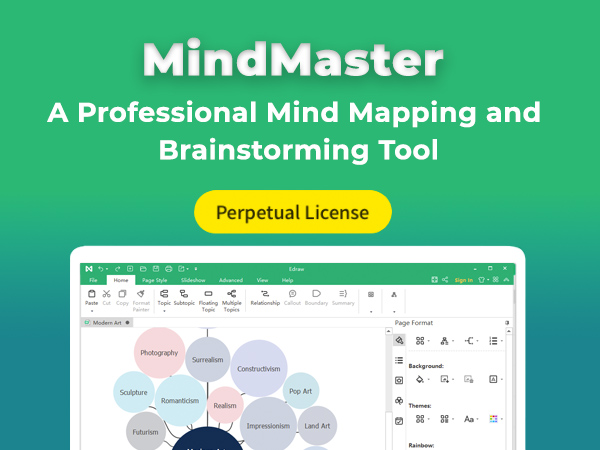 MindMaster Mind Mapping Tool With Perpetual License + 2 Years Upgrades