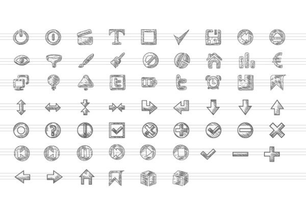 Doodle icons pack for free