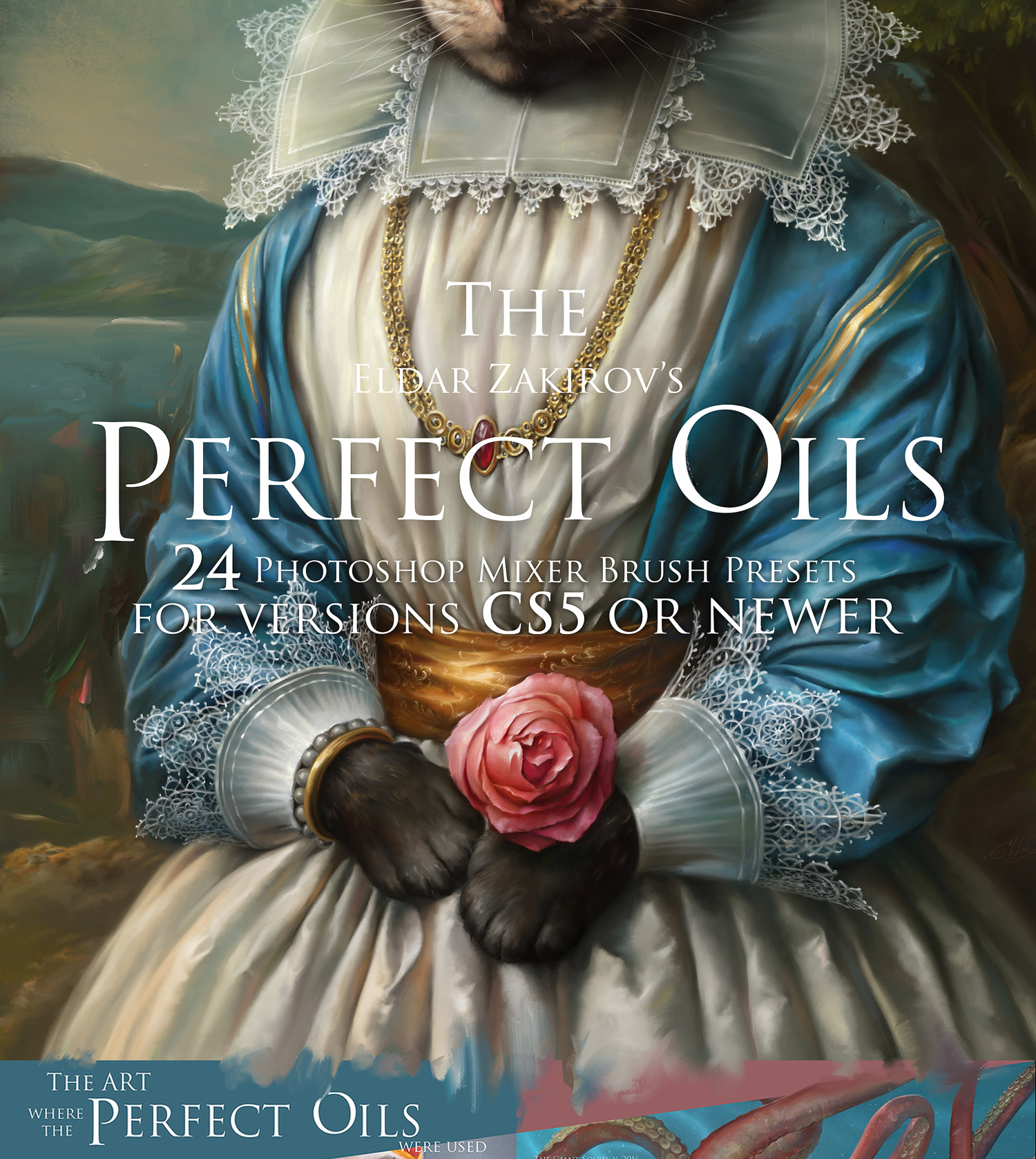 The Perfect Oil Bundle With 24 Photoshop Mixer Brushes - Cover Page