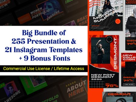Presentation and Instagram Templates Bundle Feature Image