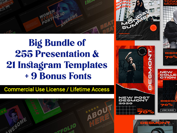 Presentation and Instagram Templates Bundle Feature Image