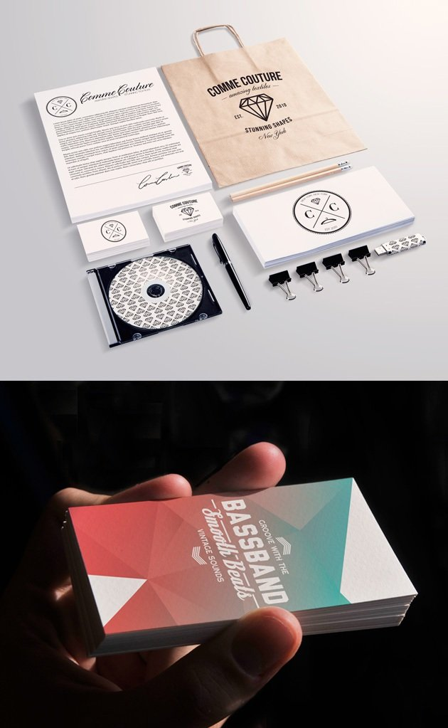 Stationery and Business Card Mockup Templates