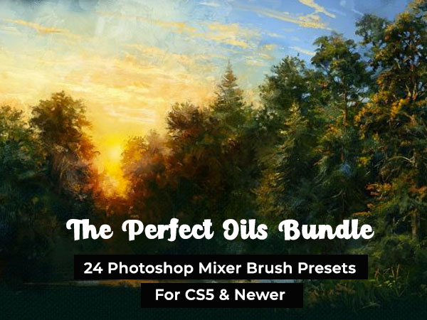 The Perfect Oils Bundle With 24 Photoshop Mixer Brush Presets [Lifetime Access]
