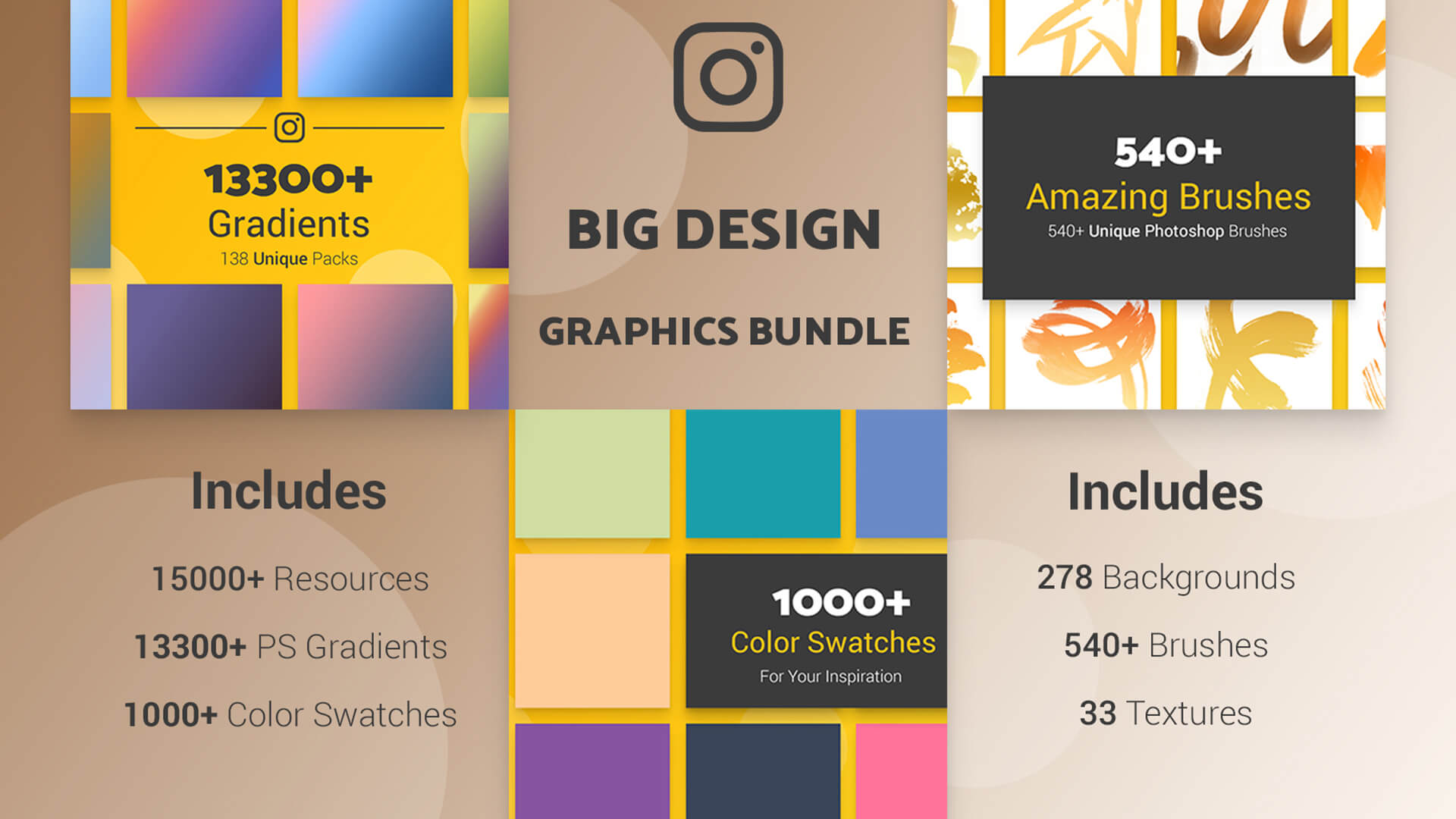 The Big Graphic Design Resources Bundle Hero Image