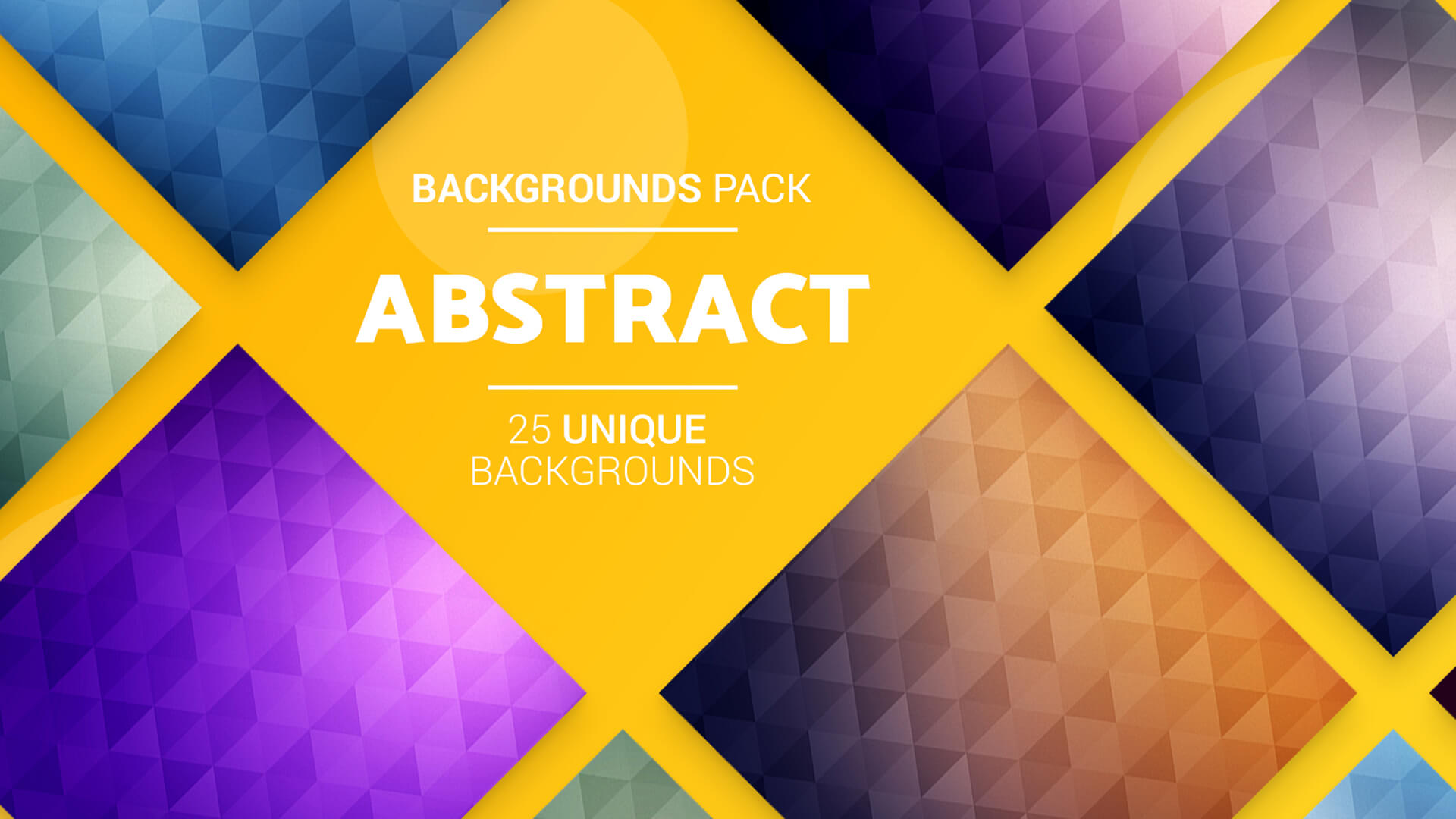 The Big Graphic Design Resources Bundle - 25 Abstract BGs