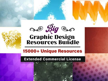 15000+ Graphic Design Resources Bundle - Extended License