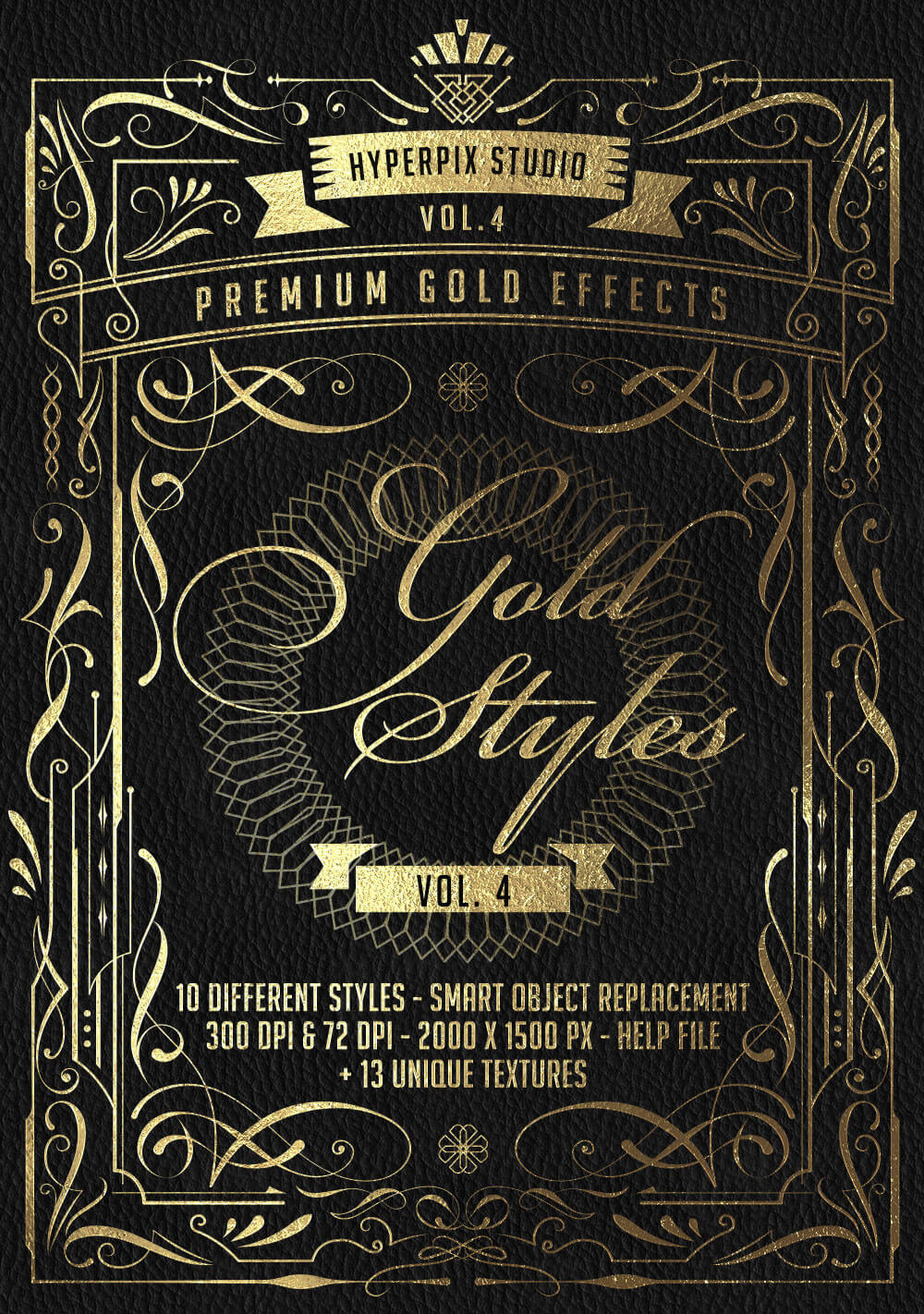 The Golden Foil Text Effects Bundle - Gold Styles Vol. 4