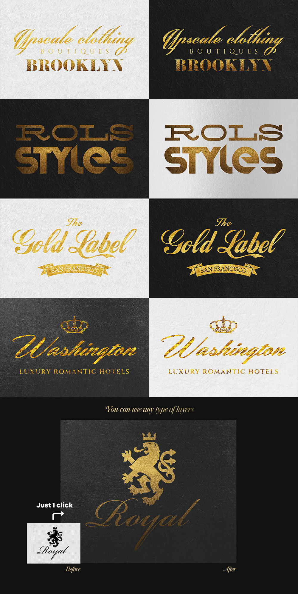 The Golden Foil Text Effects Bundle - Golden Text Effects 2 Preview - 2