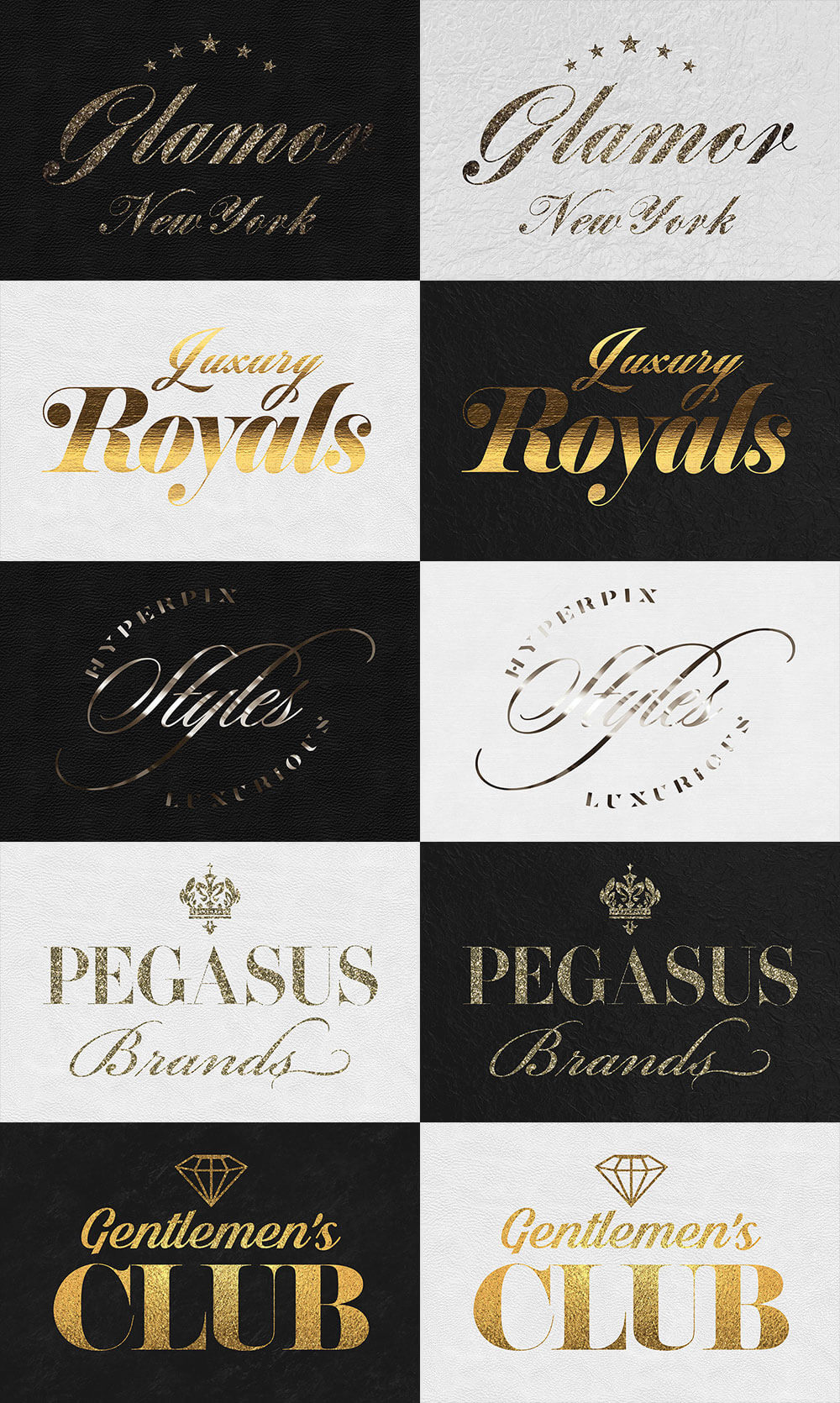 The Golden Foil Text Effects Bundle - Gold Styles Vol. 4 Preview - 1