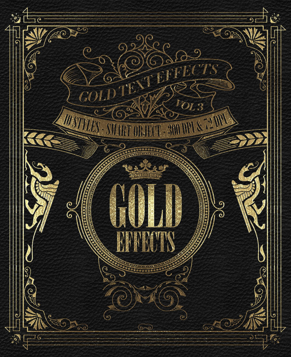 The Golden Foil Text Effects Bundle - Golden Effects Vol. 3
