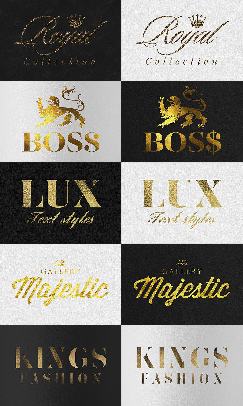 The Golden Foil Text Effects Bundle - Gold Text Effects Vol. 3 Preview - 1