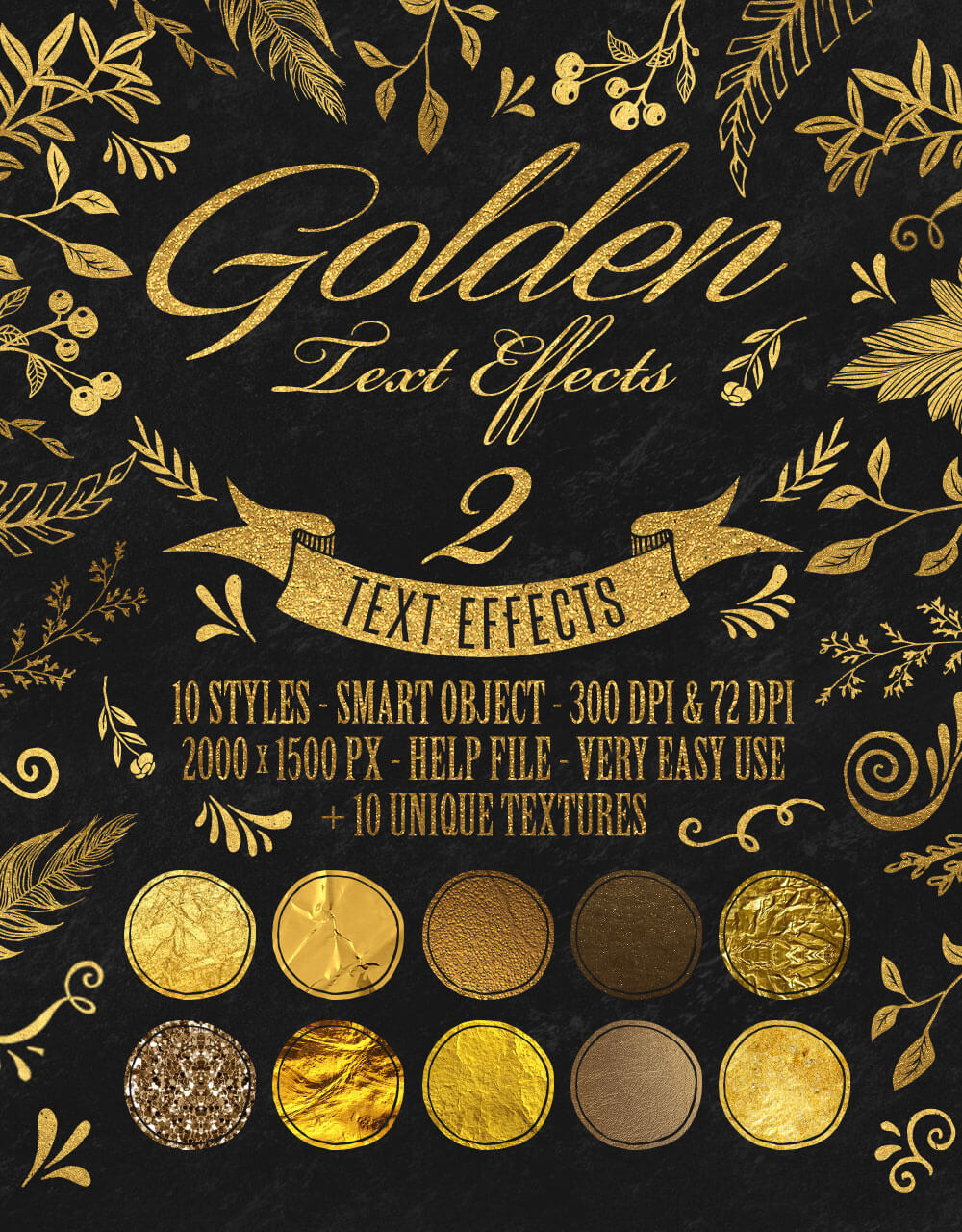 The Golden Foil Text Effects Bundle - Golden Text Effects 2