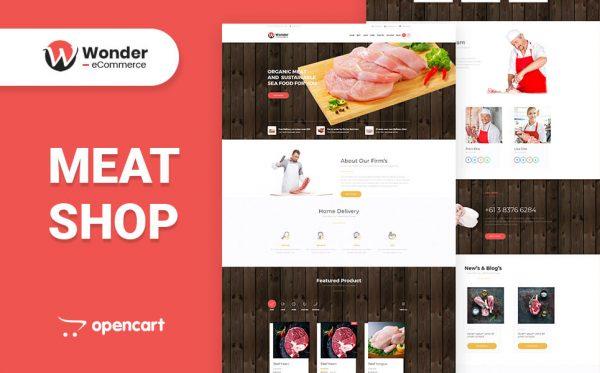 Wonder Shop Multipurpose eCommerce Opencart Theme- Fresh Meat Shop