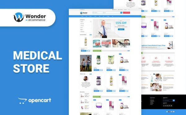 Wonder Shop Multipurpose eCommerce Opencart Theme- Medical Store