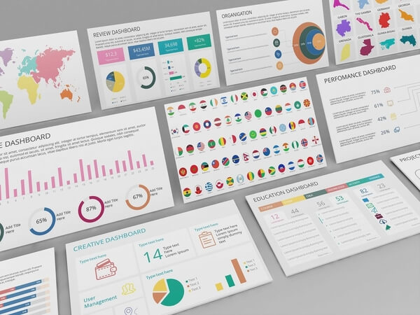 Mega PowerPoint & Keynote Dashboard Creator Kit - Mega Dashboard Slides 3