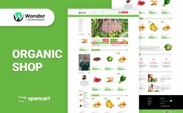 Wonder Shop Multipurpose eCommerce Opencart Theme- Organic Shop