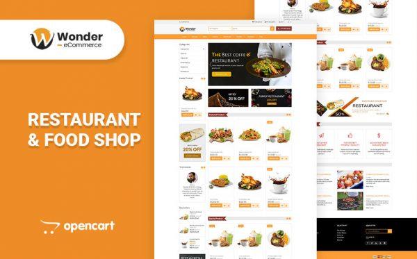 Wonder Shop Multipurpose eCommerce Opencart Theme- Restaurant & Food Shop