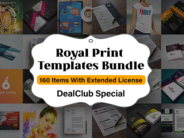 Royal Print Templates Bundle With 160 Items, Lifetime Access