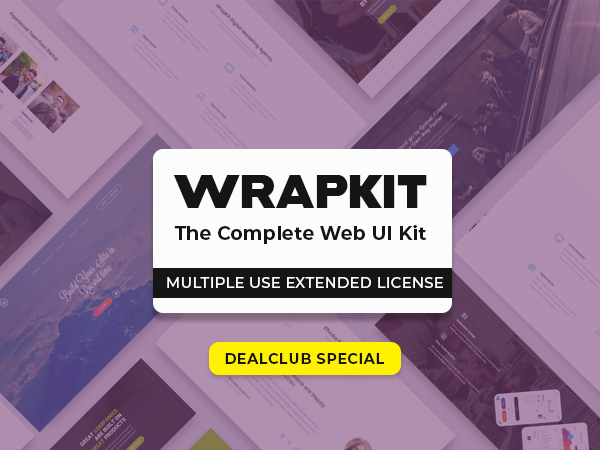WrapKit – The Complete Web UI Kit Available With Multiple Use Extended License