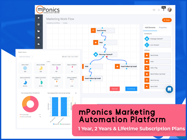 mPonics Marketing Automation Platform - 1,2 Years & Lifetime Subscription