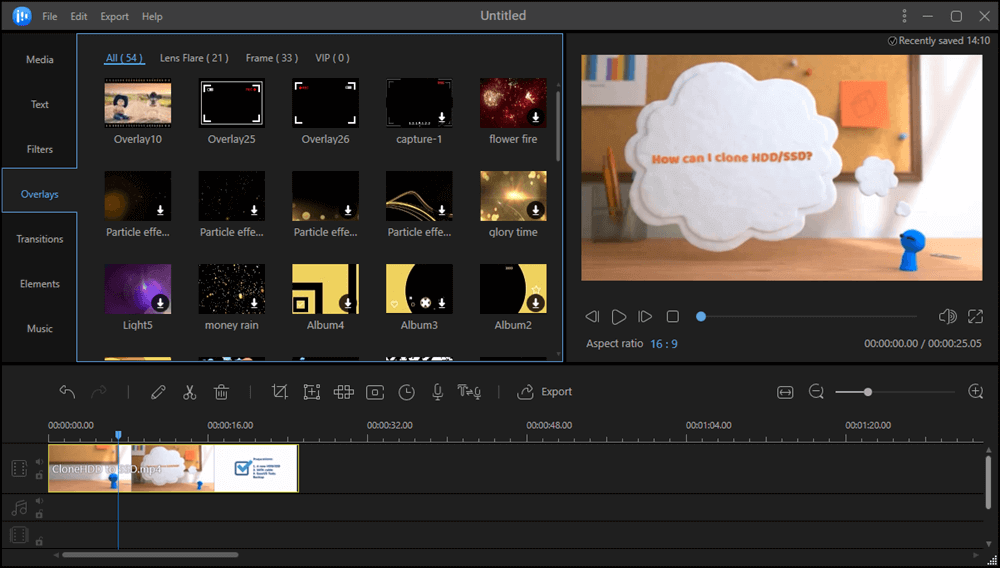Features of EaseUS Video Editor