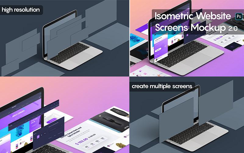 Isometric Website Mockups Version 2