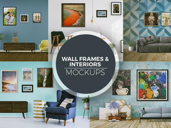 Wall Frames and Interior Mockups Freebie